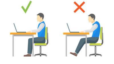 Bien s'installer pour travailler sur PC, la bonne posture pour limite les douleurs au dos